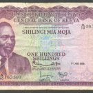 KENYA 100 SHILLINGS BANKNOTE - 1ST JULY 1968 - F