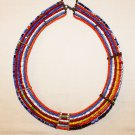 AFRICAN MAASAI (MASAI) COLLAR NECKLACE - TZ  - RARE #53