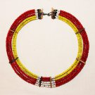 AFRICAN MAASAI (MASAI) COLLAR NECKLACE - TZ  - RARE #52