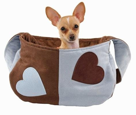 Dog Clothes Lovey Dovey Blue Snuggle Sack