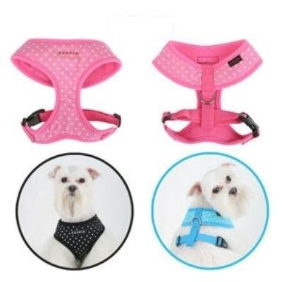 Dog Clothes Adorable Black Dotty Harness