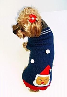 Dog Clothes Santa Paws Christmas Dog Sweater