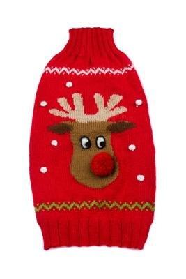 Dog Clothes Adorable Alpaca Red Rudolf Sleeveless Sweater