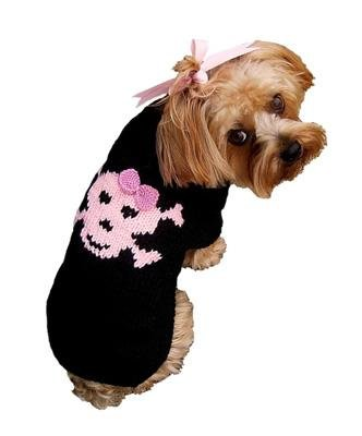 Dog Clothes Adorable Jolly Roger Pink Skull Sweater