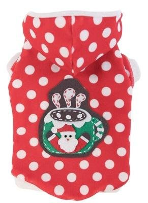 Dog Clothes Adorable Christmas Cocoa Hoodie