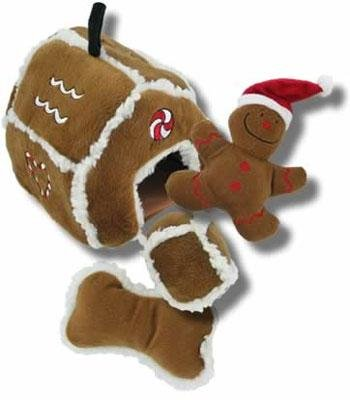 Dog Toys Adorable Hide-A-Toy Gingerbread House