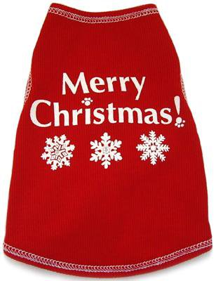 Dog Clothes Adorable Merry Christmas Tank