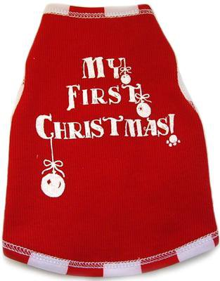 Dog Clothes Adorable My First Christmas Tank