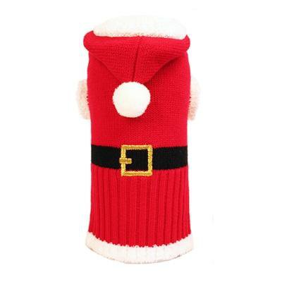 Dog Clothes Red Hoodie-Santa Suit