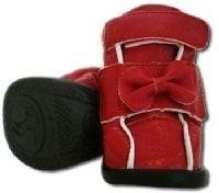 Red Ribbon Bow Dog Boots Shoes