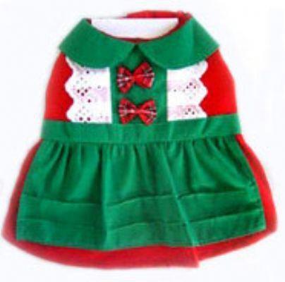 Dog Clothes Adorable Christmas Dress