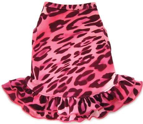 Dog Clothes Adorable Pink Cheetah Dress