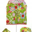 Dog Clothes Flower Power Harness, Leash & Matching Cap