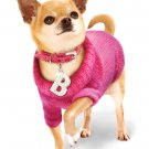 Dog Sweaters Adorable Bruiser's Outfit - Pink Sweater / Diamante Collar & Leash Set