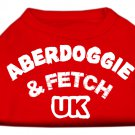 Dog Clothes AdorableAberdoggie UK Screenprint Shirt - Red