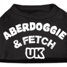 Dog Clothes Adorable Aberdoggie UK Screenprint Shirt - Black
