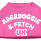 Dog Clothes AdorableAberdoggie UK Screenprint Shirt - Bright Pink