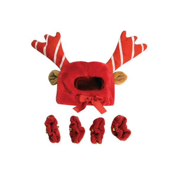 Dog Clothes Holiday Reindeer Costume With Leg Cuffs