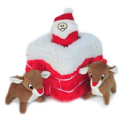 Dog Clothes Adorable Holiday Burrow Chimney Plush Toy