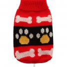 Dog Clothes Adorable Red Paws Sweater