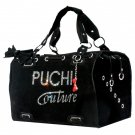 Dog Clothes Beautiful Puchi Couture Black Suede Carrier