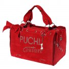 Dog Clothes Beautiful Puchi Couture Red Suede Carrier