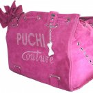 Dog Clothes Beautiful Puchi Couture Pink Suede Carrier