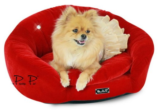 Dog Beds NEW!! Red Velvet Round Couch Bed