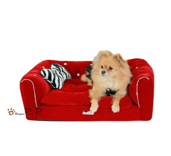 Dog Beds NEW!! Rectangular Red Couch Bed