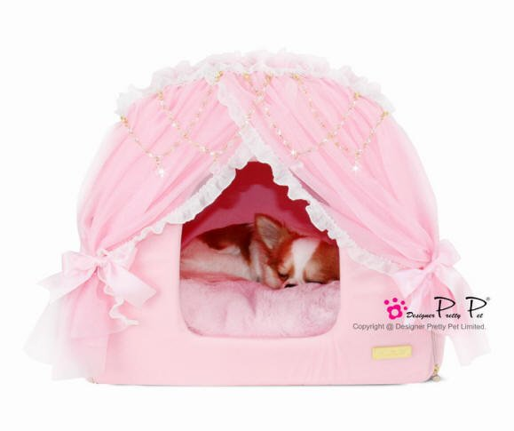 Dog Beds NEW!! Pink Princess House Bed