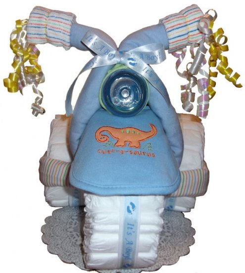 3-Wheeler Diaper Cake for a boy