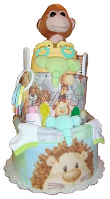 Monkey Business Diaper Cake