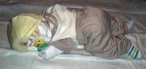 Sleeping Diaper Baby