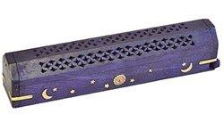 Purple Incense burner sun and moon
