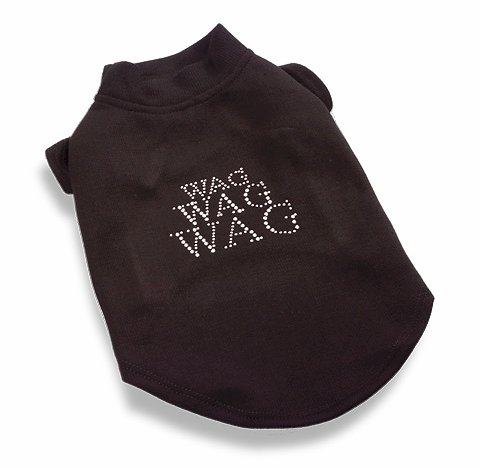 CRYSTAL WAG, WAG, WAG DOG T-SHIRT