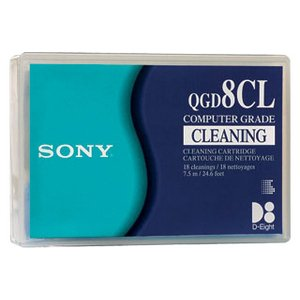 Sony QGD8CL -  8mm, D8, Cleaning Tape Cartridge, 18 pass