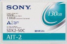Sony SDX2-50C Data Cartridge Tape 8mm AIT2 50/130GB 230m