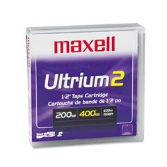 Maxell 183850 LTO 2 Tape 200/400 GB, Ultrium 2 Data Cartridge