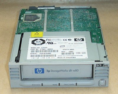 HP C7504-69201 - DLT VS80, INT. Tape Drive, 40/80GB
