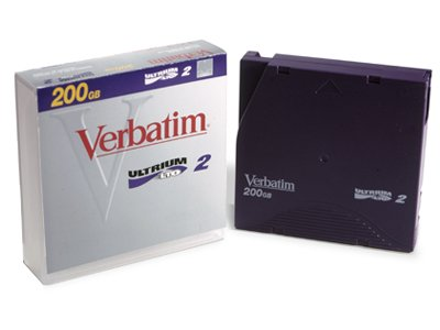Verbatim 94527 LTO2, ULTRIUM2, 200/400GB TAPE  Data Cartridge