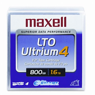 Maxell 183906 Data Cartridge, Tape Media, LTO4, Ultrium-4