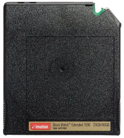 Imation 40852 - 1/2 Inch, Blackwatch 3590E Data Cartridge, 20/40GB, B/W