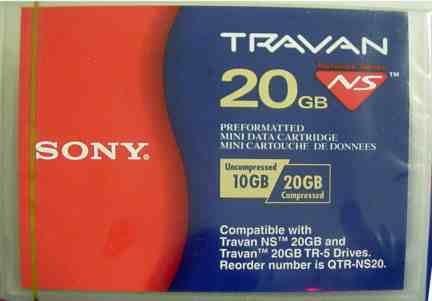 Sony QTRNS20 - Travan, TR5 Tape Cartridge,  NS20,  20GB