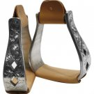 Showman™ aluminum polished engraved stirrups #221362