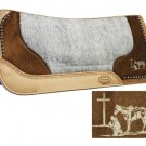 Laser Etched Pleasure Horse Praying Cowboy Saddle Pad #427