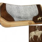Laser Etched Pleasure Horse Saddle Pad #429