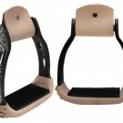 Light weight black aluminum stirrups  #2212653k