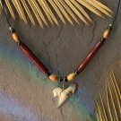 Fossilized Mackeral Shark Tooth Necklace
