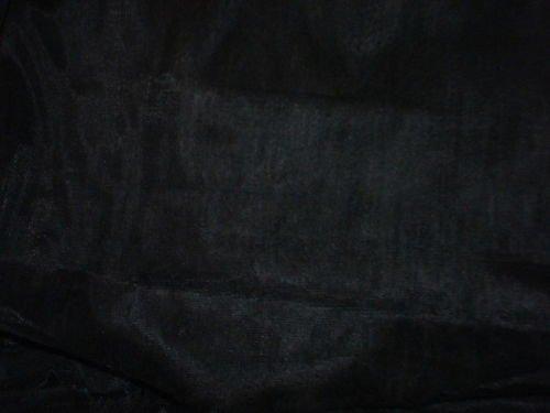 "Black Lycra Spandex Fabric 66""W 7 Yards NEW!"