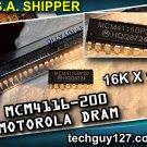MOTOROLA MCM 4116 -200 DRAM 16K X 1 PLASTIC DIP